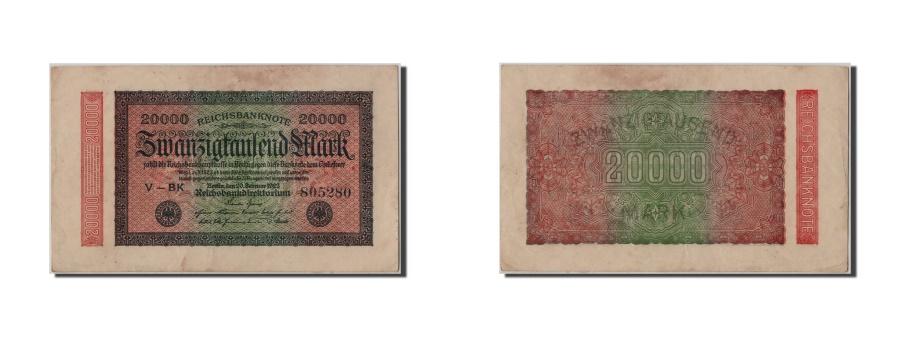World Coins - Germany, 20,000 Mark, 1923, KM #85a, 1923-02-20, AU(50-53), V-BK 805280