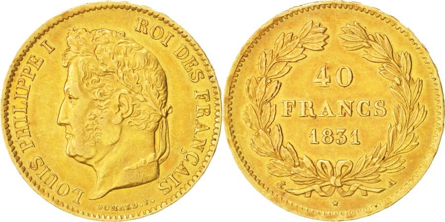 World Coins - France, Louis-Philippe, 40 Francs, 1831, Paris, Gold, KM:747.1