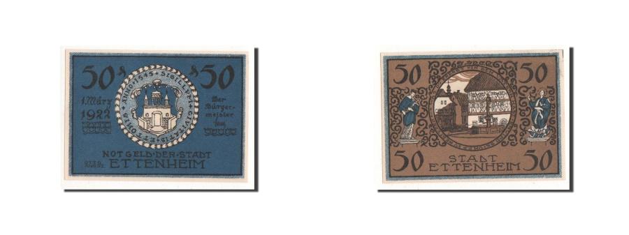 World Coins - Germany, Ettenheim, 50 Pfennig, paysage, 1922, 1922-03-01, UNC(65-70), Mehl:354