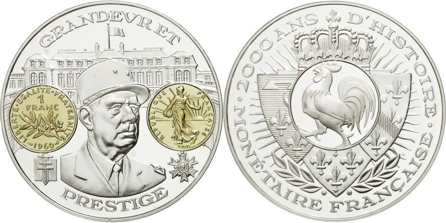 World Coins - France, Medal, 2000 ans d'Histoire Monétaire française, , Copper
