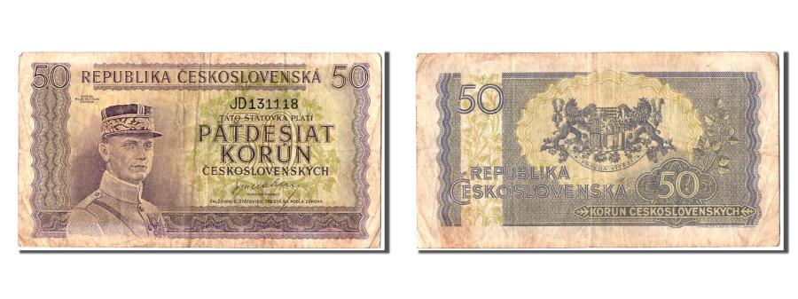 World Coins - Czechoslovakia, 50 Korun, KM #62a, EF(40-45), JD 131118