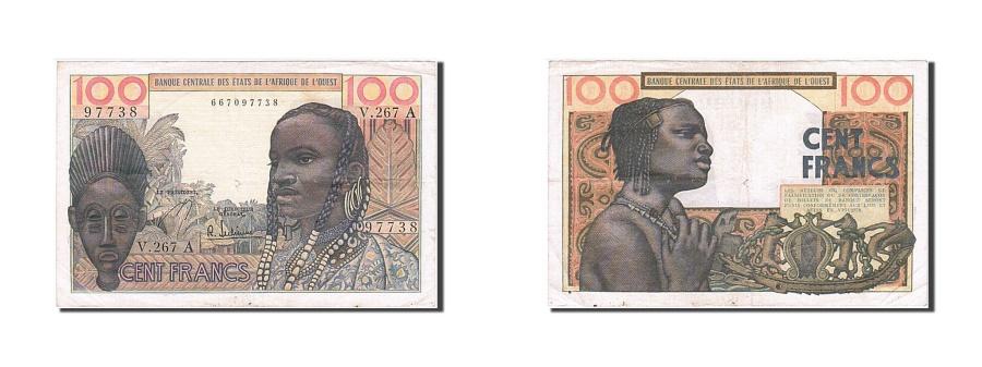 World Coins - West African States, 100 Francs, 1959, KM #101Ag, AU(50-53), V.267 A