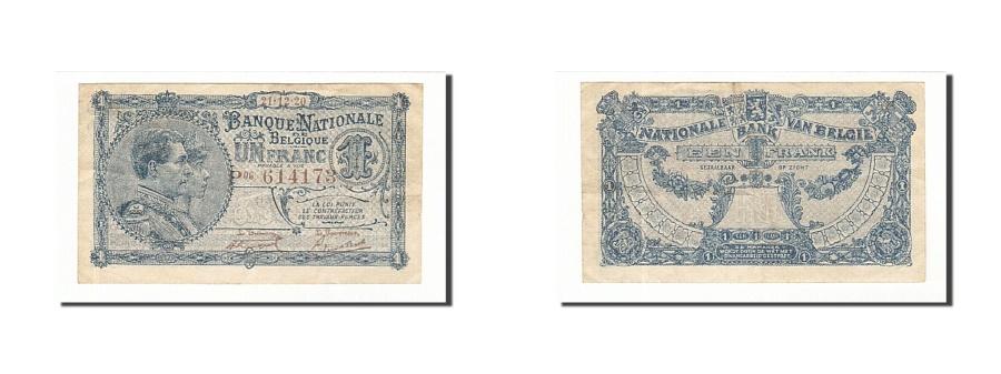 World Coins - Belgium, 1 Franc, 1920, KM:92, 1920-12-21, EF(40-45)