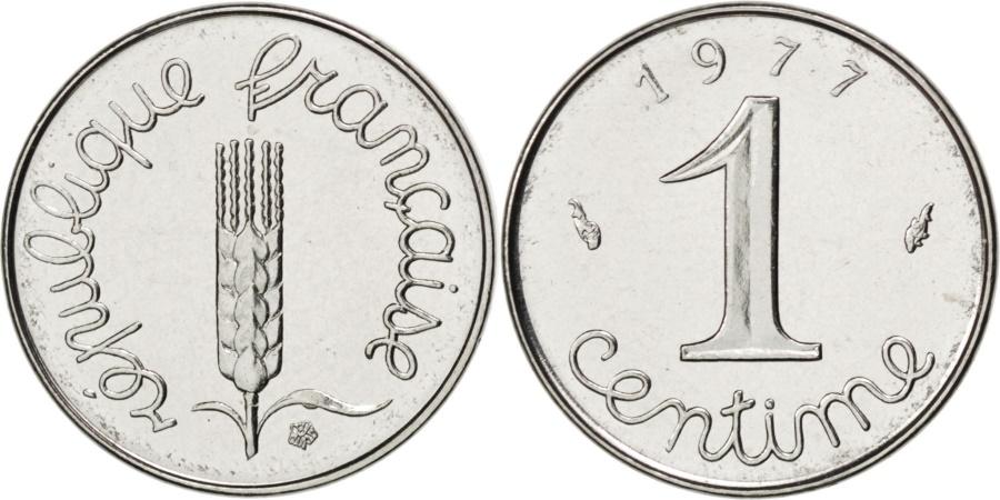 World Coins - FRANCE, Épi, Centime, 1977, Paris, KM #928, , Stainless Steel, 15, 1.65