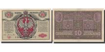 World Coins - Banknote, Poland, 10 Marek, 1917, 1917, KM:12, AU(50-53)