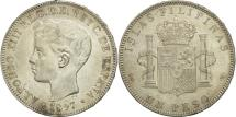 World Coins - Philippines, Peso, 1897, AU(50-53), Silver, KM:154
