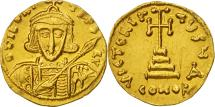 Tiberius III Apsimar, Solidus, Constantinople, AU(55-58), Gold, Sear:1360