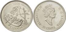 World Coins - Canada, Elizabeth II, 25 Cents, Creativity, 2000, Royal Canadian Mint, AU(55-58)