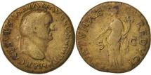 Vespasian, As, 77-78, Lyons, VF(30-35), Copper, RIC:1217