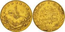 World Coins - Turkey, Muhammad V, 100 Kurush, 1909, Qustantiniyah, EF(40-45), Gold, KM:754