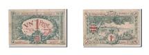 Monaco, 1 Franc, 1920, KM:4a, VF(30-35)