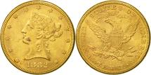 Us Coins - United States, Coronet Head, $10, 1882, Philadelphia, MS(60-62), Gold, KM:102