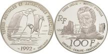 World Coins - France, 100 Francs, 1992, MS(65-70), Silver, KM:1011, Gadoury:C34