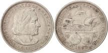 Us Coins - United States, Half Dollar, 1893, U.S. Mint, Philadelphia, EF(40-45), Silver