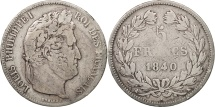 France, Louis-Philippe, 5 Francs, 1840, Bordeaux, VF(20-25), Silver, KM:749.7