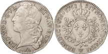 World Coins - France, Louis XV, 1/2 Écu au bandeau, 1/2 ECU, 44 Sols, 1761, Lille, MS(60-62)