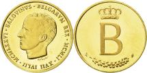 World Coins - Belgium, Medal, Belgique, Baudouin I, 1976, MS(65-70), Gold