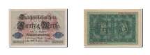 Germany, 50 Mark, 1914, KM:49b, 1914-08-05, UNC(63)