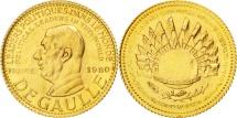 World Coins - France, Medal, Charles De Gaulle, 1980, MS(65-70), Gold