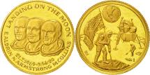 World Coins - France, Medal, Landing on the Moon, 1969, AU(55-58), Gold