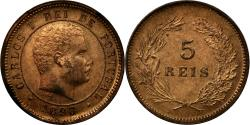 World Coins - Coin, Portugal, Carlos I, 5 Reis, 1893, , Bronze, KM:530