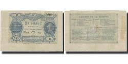 World Coins - France, Paris, 1 Franc, 1871, AU(50-53)