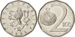 World Coins - Czech Republic, 2 Koruny, 1993, , Nickel plated steel, KM:9