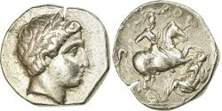 Ancient Coins - Coin, Paeonia, Patraos, Apollo, Tetradrachm, AU(50-53), Silver