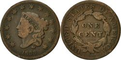Us Coins - Coin, United States, Coronet Cent, Cent, 1833, U.S. Mint, Philadelphia