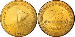 World Coins - Coin, EAST TIMOR, 25 Centavos, 2013, Lisbon, , Nickel-brass, KM:4