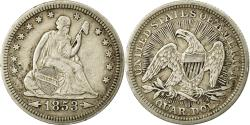 Us Coins - Coin, United States, Seated Liberty Quarter, Quarter, 1853, U.S. Mint