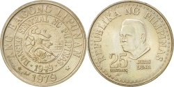 World Coins - PHILIPPINES, 25 Sentimos, 1979, KM #227, , Copper-Nickel, 21, 3.96