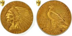 Us Coins - Coin, United States, Indian Head, $2.50, Quarter Eagle, 1909, PCGS AU55