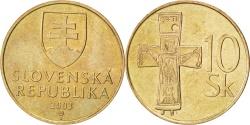 World Coins - SLOVAKIA, 10 Koruna, 2003, KM #11, , Aluminum-Bronze, 26.5, 6.62