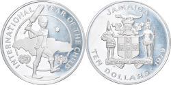 World Coins - Coin, Jamaica, Elizabeth II, 10 Dollars, 1979, Franklin Mint, , Silver