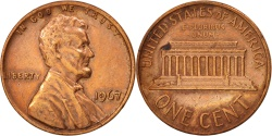Us Coins - United States, Lincoln Cent, 1967, Philadelphia, , KM:201