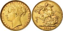 World Coins - Coin, Australia, Victoria, Sovereign, 1886, Melbourne, , Gold, KM:7