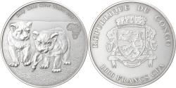 World Coins - Coin, Congo Republic, Baby Lions, 1000 Francs CFA, 1 Silver Oz, 2012,