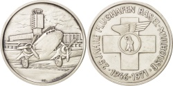 World Coins - 25th Basel-Mulhouse airlink anniversary, Token