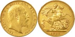 World Coins - Coin, Australia, Edward VII, Sovereign, 1905, Perth, , Gold, KM:15