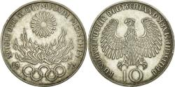 World Coins - Coin, GERMANY - FEDERAL REPUBLIC, 10 Mark, 1972, Karlsruhe, AU(50-53), Silver
