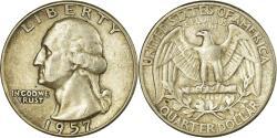 Us Coins - Coin, United States, Washington Quarter, Quarter, 1957, U.S. Mint, Philadelphia