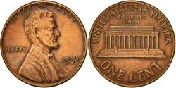 Us Coins - United States, Lincoln Cent, Cent, 1962, U.S. Mint, Philadelphia,