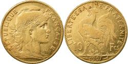 Ancient Coins - Coin, France, Marianne, 10 Francs, 1907, Paris, , Gold, KM:846