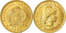 World Coins - Coin, Argentina, 5 Pesos, Argentino, 1884, , Gold, KM:31