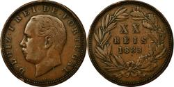 World Coins - Coin, Portugal, Luiz I, 20 Reis, 1883, EF(40-45), Bronze, KM:527