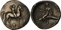 Ancient Coins - Coin, Calabria, Stater, c. 302 BC, Tarentum, , Silver, HN Italy:947