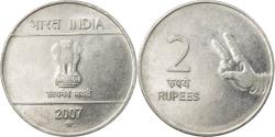 World Coins - Coin, INDIA-REPUBLIC, 2 Rupees, 2007, , Stainless Steel, KM:327
