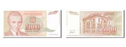 World Coins - Yugoslavia, 5000 Dinara, 1993, KM #128, UNC(60-62), AA 6206803