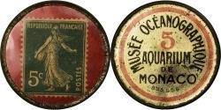 World Coins - Coin, Monaco, Musée Océanographique, 5 Centimes, Timbre-Monnaie,